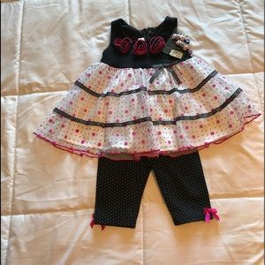 Girls dress and pants. Bonnie baby. 12 months, new